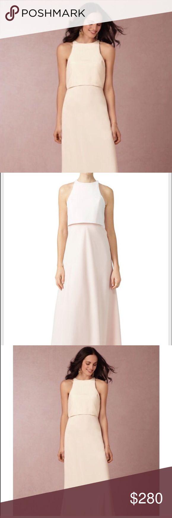 Jill Jill Stuart all white colorblock gown dress New with tag. Never been worn. Jill Stuart Dresses Wedding