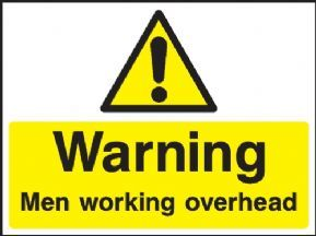 Warning Men working overhead safety sign