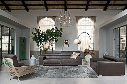 Vilnius is a sofa that expresses strong character in every detail, and that is available in a large variety of dimensions and compositions. The reclining headrests are included in each element; the seats can optionally be equipped with COMFORT sliding mechanism....
