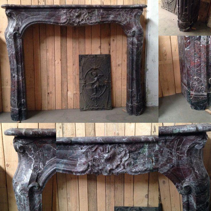 17 meilleures id es propos de chemin es en marbre sur pinterest plaques d - Fausse cheminee ancienne ...