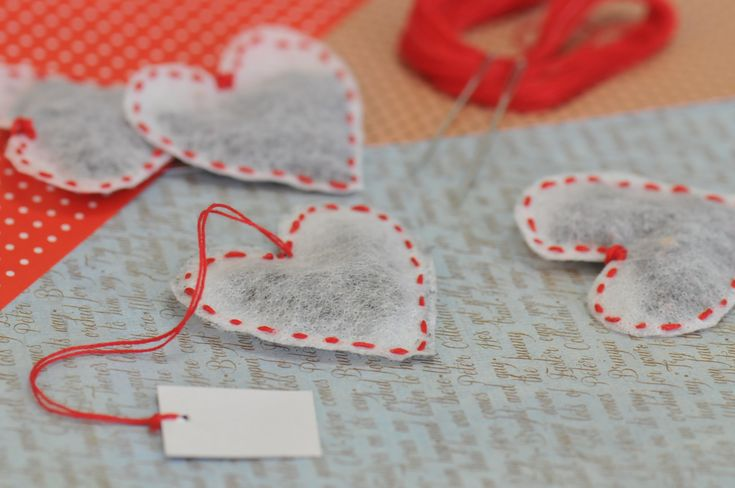 Čajové sáčky ve tvaru srdce