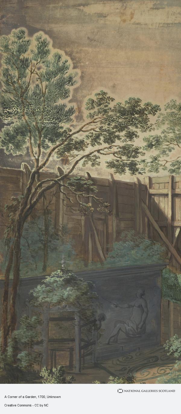 Unknown, A Corner of a Garden (18th century)