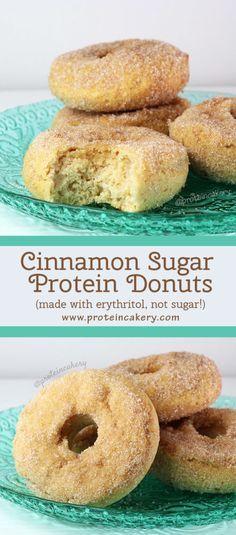 cinnamon-sugar-protein-donuts-erythritol-protein-cakery-pinterest