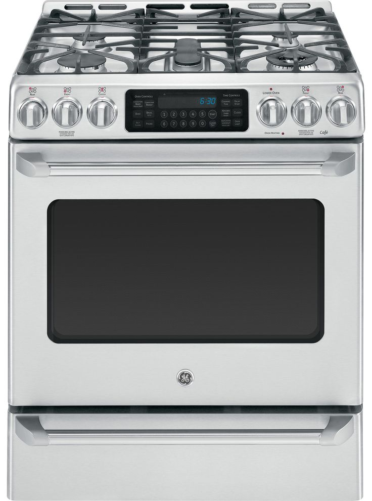 """GE Cafe CGS985SETSS 30"""" Slide-in Gas Range 