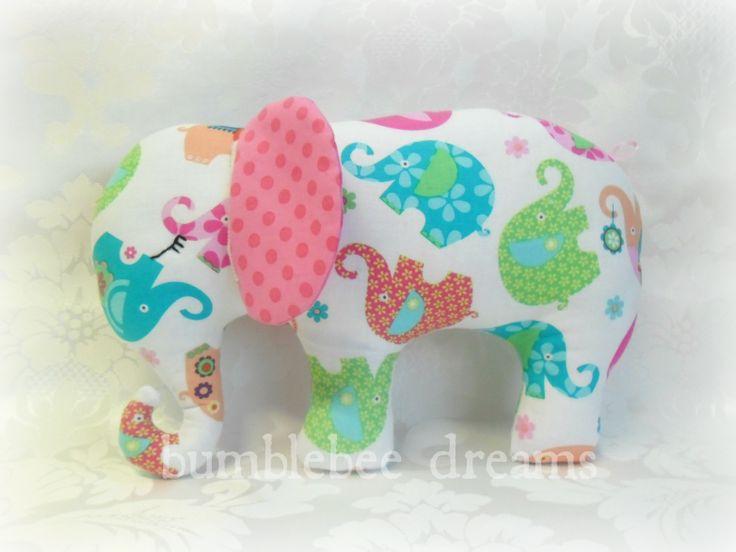 Handmade elephant softie   https://www.facebook.com/bumblebeedreams