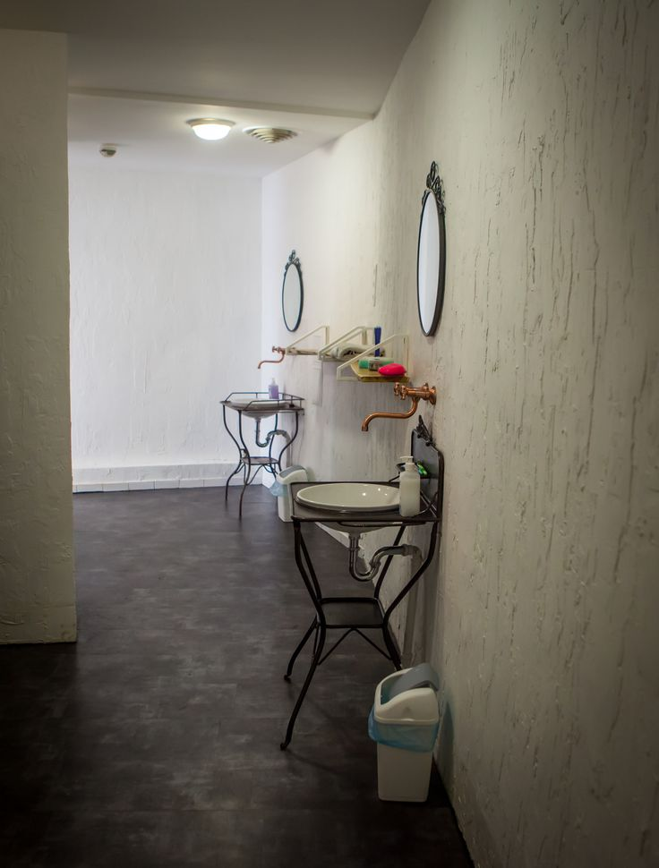 new vintage bathrooms at the Casa Hostel in Budapest, we pay attention to details ;)