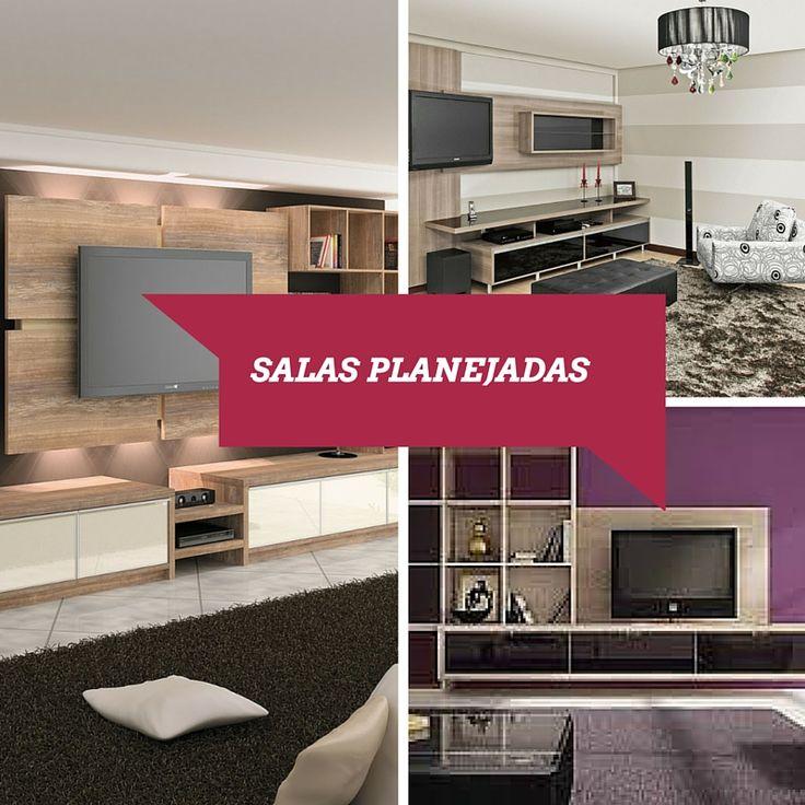 Salas Planejadas - http://decoracao24.com/salas-planejadas/
