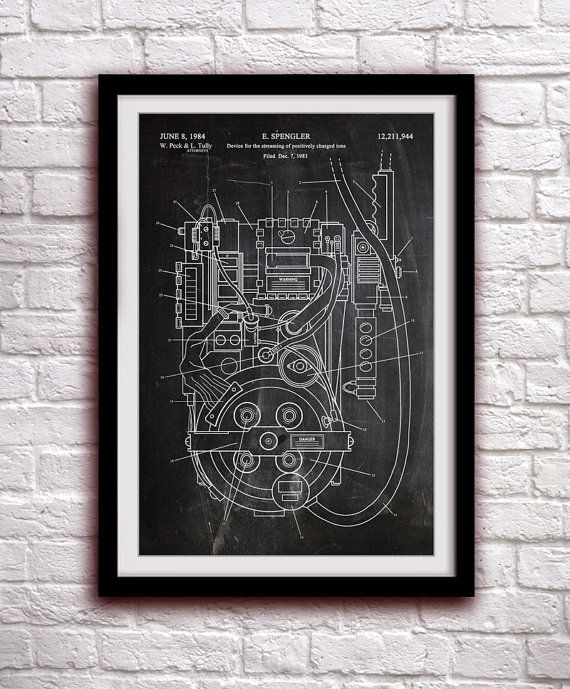 GHOSTBUSTERS - Proton Pack - Fantasy Art Patent - Patent Print Poster Wall Decor - 0137