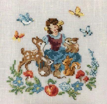www7b.biglobe.ne.jp ~m-stitch - Veronique Enginger ''Fables, contes et comptines'' Blanche-neige et les sept nains