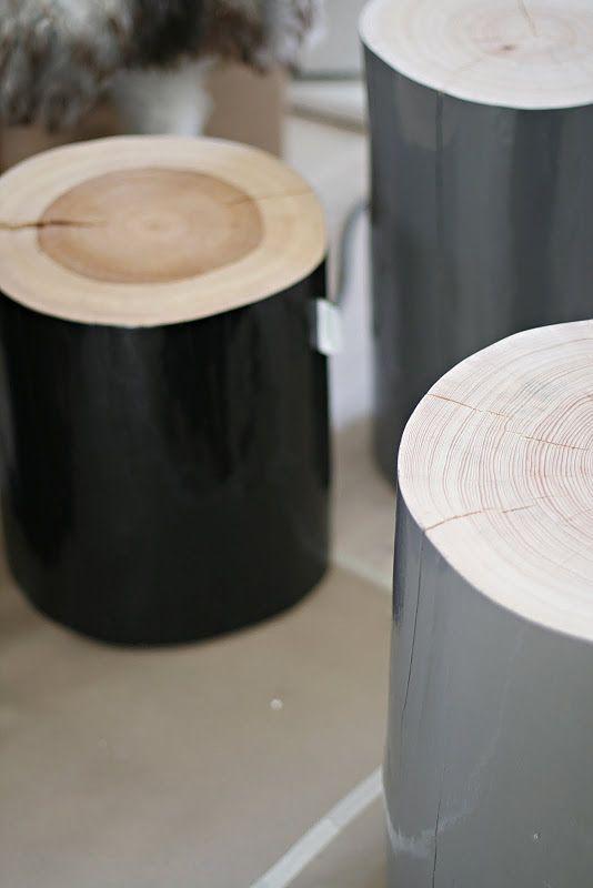 wooden stools from Norwegian Krosser