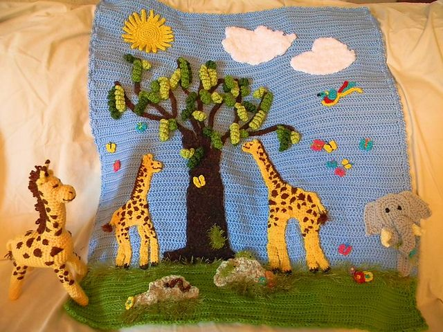 Crochet Jungle Afghan Pattern : 50 best images about CRAFTY THINGS - Knitting, Crochet ...