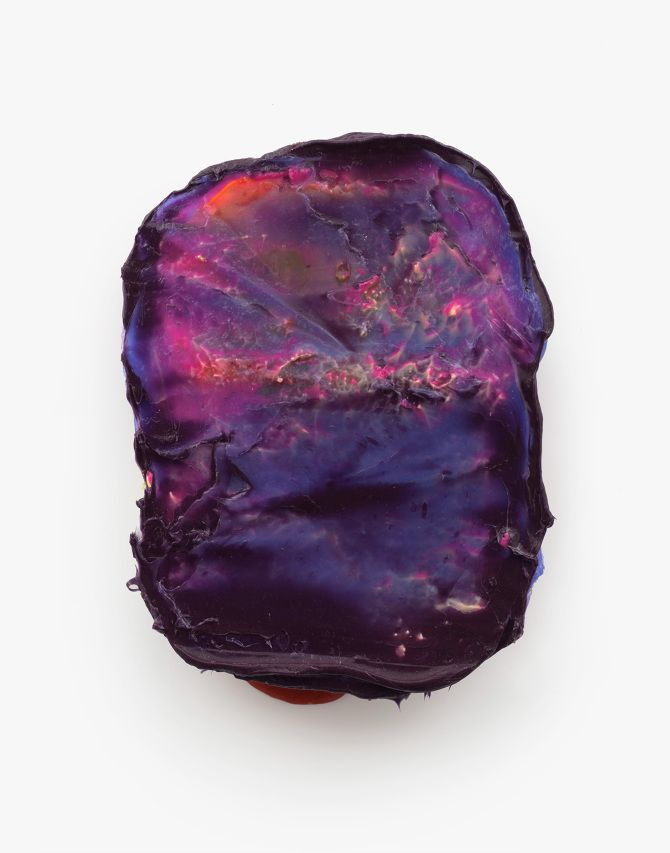 Lev Khesin, Gobo; 2008, Silicone and pigments on wood, 29 x 22 x 5 cm