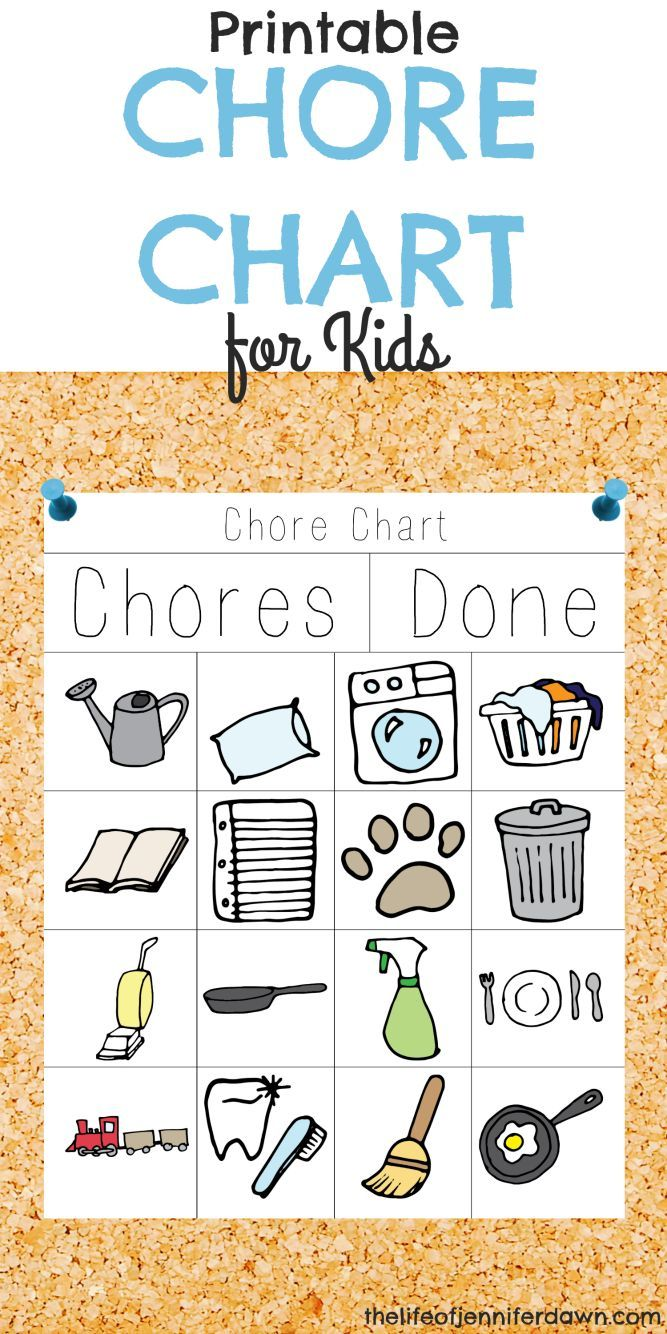 printable chore chart for kids that is fun and interactive