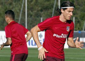 Temporada 16/17. Entrenamiento en la Ciudad Deportiva Wanda. Filipe Luis