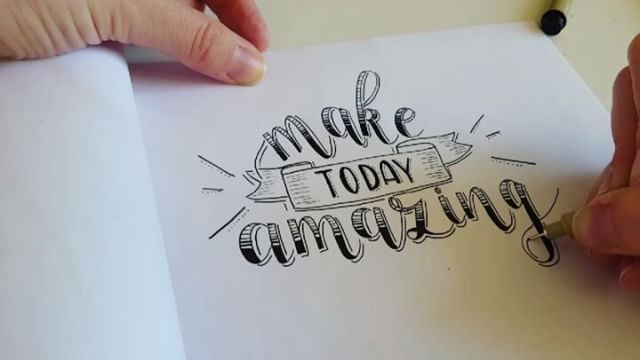 Make today amazing! Even though it's monday  . . . . .  #dutchlettering #handlettering #lettering #loveforlettering #micronpen #blackandwhite #handletteringvideo #hyperlapse #quote #maketodayamazing #letteringchallenge #moderncalligraphy #fauxcalligraphy #calligraphy #calligrafriends #50words #dailytype #goodtype #letteringonsunday #letteringwithpositivity #handletteren #handgeschreven #creatief #handdrawn