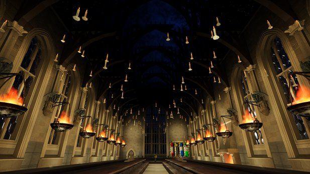 Hogwarts Grosse Halle Als Fan Nachbau Hogwarts Hogwarts Grosse Halle Freizeitpark