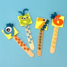 Cute counting sticks - A twist on this would be to have the kiddos use their names instead of numbers and maybe use items of the party theme to decorate