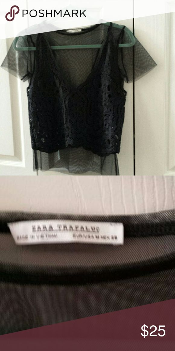Zara sheer blouse Zara sheer blouse, that item was sold but transaction was cancelled Zara Tops Blouses