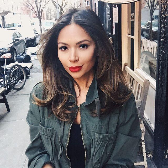 marianna hewitt instagram hair makeup mac ruby woo