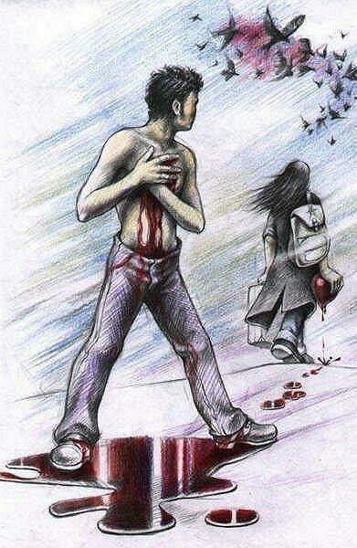 Virou as costas e foi e tirou dele o que ele havia pensado ter tirado dela =)