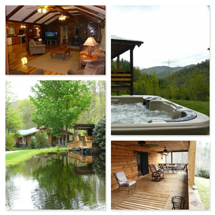 121 best nc smoky mountain cabins images on pinterest for Smoky mountain cabins with fishing ponds