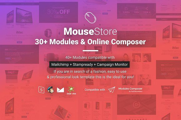 MouseStore Responsive Email Template by Psd2Newsletters on @creativemarket