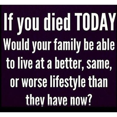 More than likely you are going to live a long, healthy life, however, are you managing the risk that you could possibly unexpectedly die sooner while loved ones are still relying on your income? Think about it.