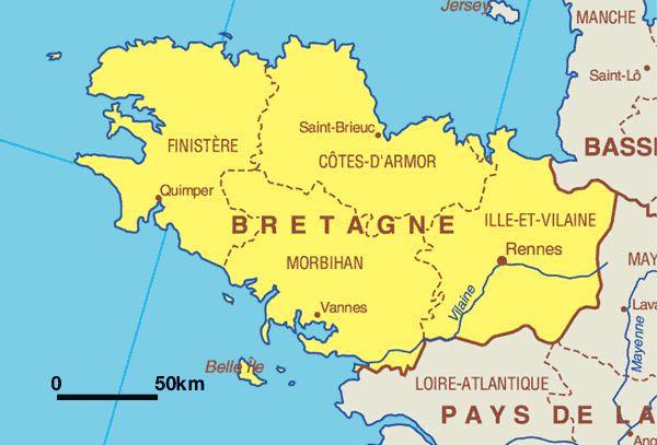 Die Bretagne ist eine sehenswerte Region in Frankreich. Diese Region ...