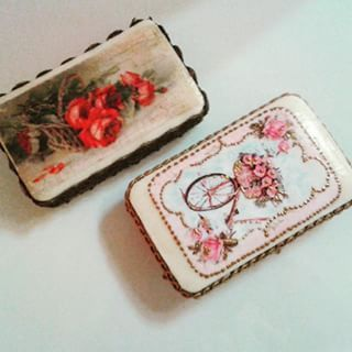 Decoupage & mix nedia techniques on soaps!  #decoupage #vintage #soap #soaps #colours #painting #art #roses #crafts #skg #thessaloniki #artist #lace #drawing #drawings #markers #paintings #watercolor #pink #collage #creative #sketch #sketchaday #bicycle #arte #artwork #Art2Art #color #colour #tagstagramers