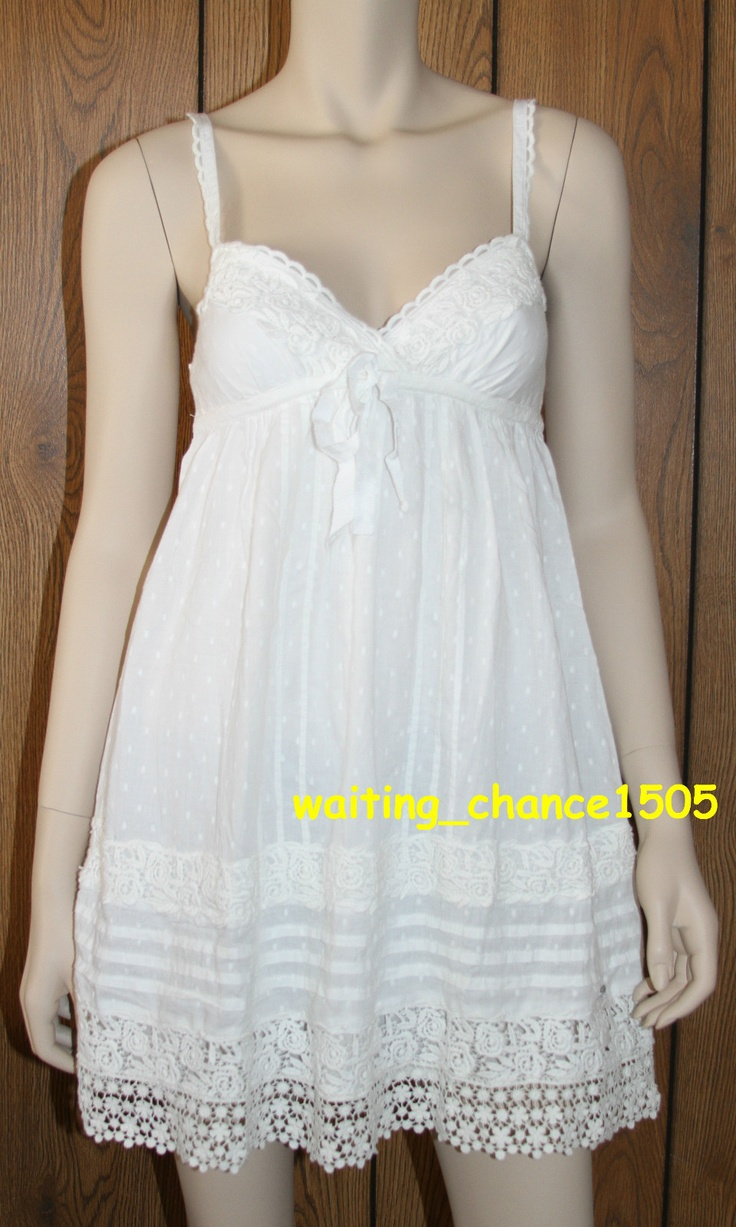White lace apron ebay - Details About Nwt Abercrombie Fitch By Hollister Women White Navy Dress Top S M L Tops Dress Tops And Dresses