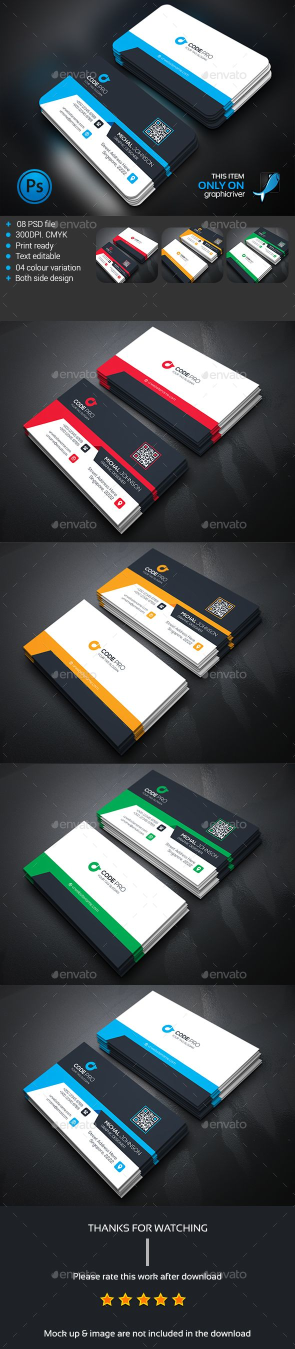 336 best fl business cards images on pinterest business card corporate business card template psd design download httpgraphicriver reheart Images