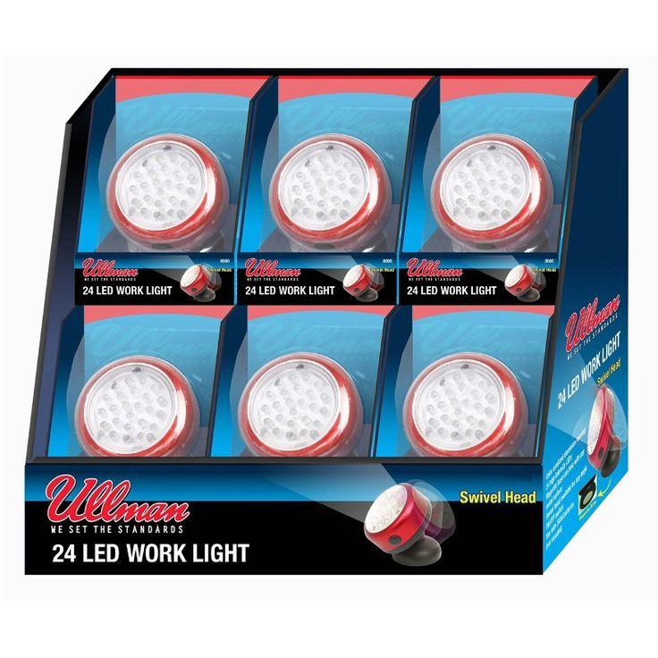 Pakkaus sisältää 6kpl RT-2LT LED lamppua. Lampussa on 360° kääntyvä magneettijalka ja se toimii AAA koon paristoilla (3 kpl).