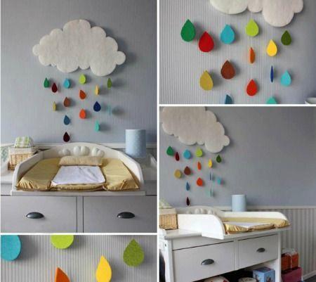 Colorful Felt Rain Cloud