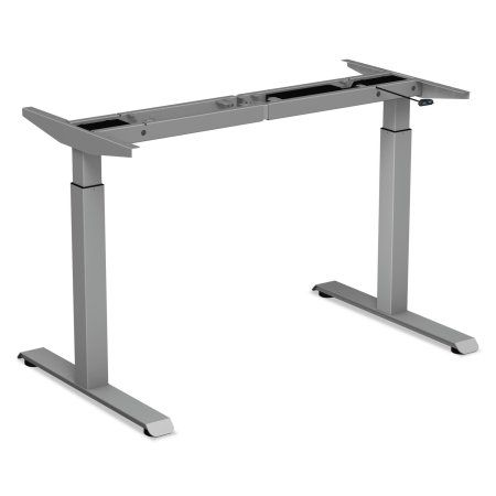 Alera 2-Stage Electric Adjustable Table Base, 27 1/4 inch to 47 1/4 inch High, Gray