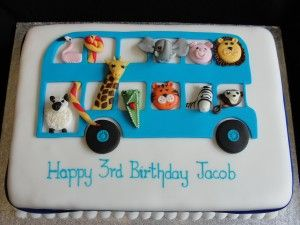 Jungle Animals Bus Cake