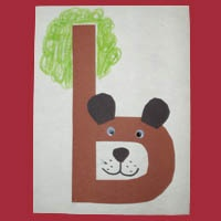 b is for bears  Every child has a letter  Decorative abc