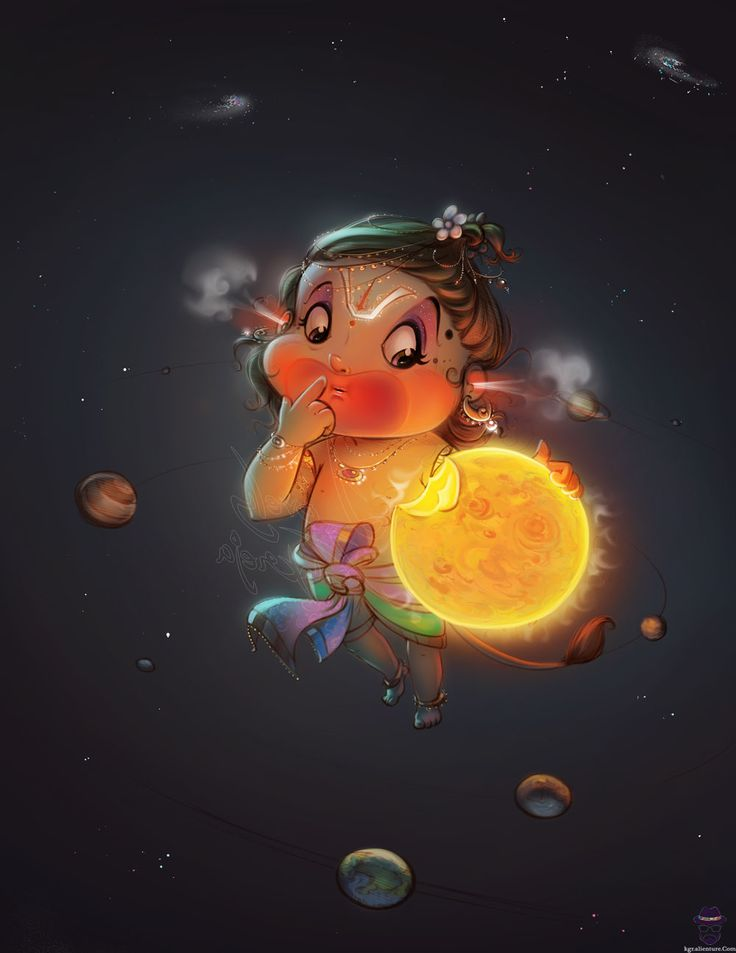 Bal Hanuman eating the sun