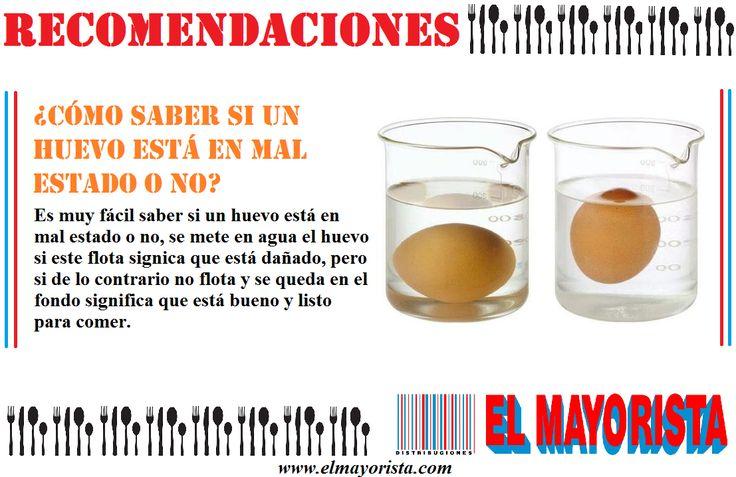 Aquí un pequeño truco para saber si los huevos están dañados o no #elmayorista #huevos #martes  www.elmayorista.com