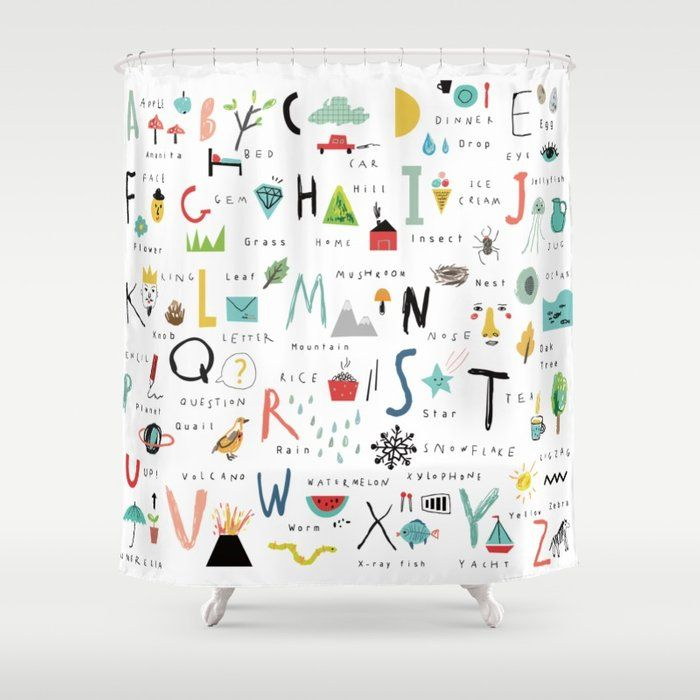 Buy Abc Shower Curtain By Imagenaction Worldwide Shipping