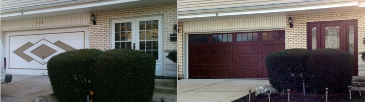 All I can say is WOW!!! New Clopay UltraGrain garage door with a complimenting Clopay Entry Door