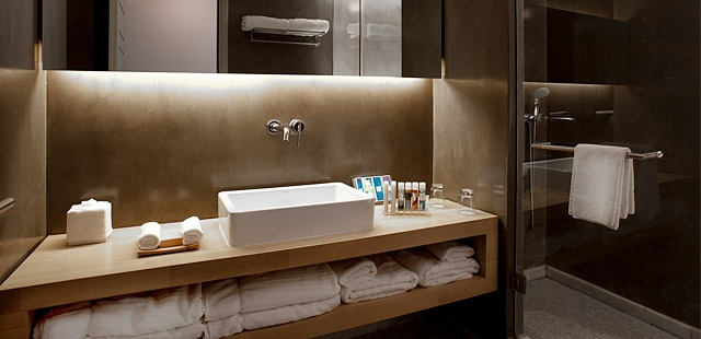 like the unit and the downlighting from the cabinet... both affordably achieved: Boutique Hotels, Greece Hotel, Bathroom Ensuite, Brilliant Bathrooms, Luxury Hotels, Door Handle