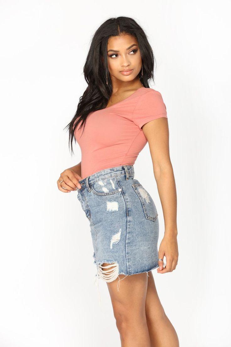 Sabela Basic Bodysuit - Peach