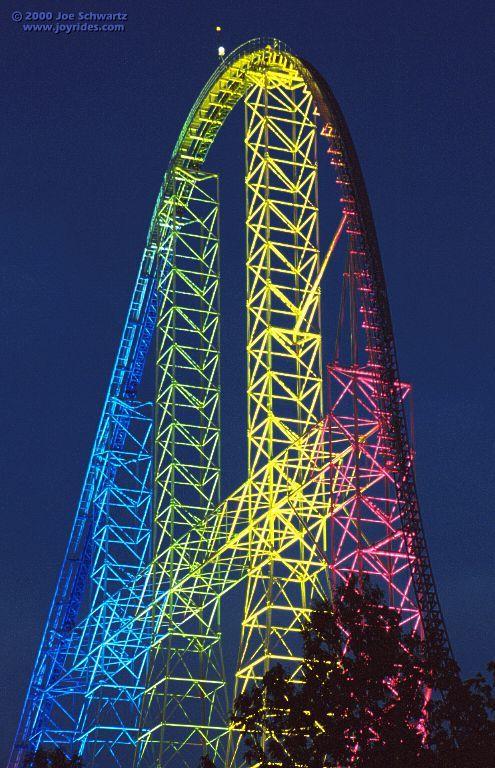 Millenium Force, Cedar Point, Sandusky, OH - This roller coaster can kick your roller coaster's ass.