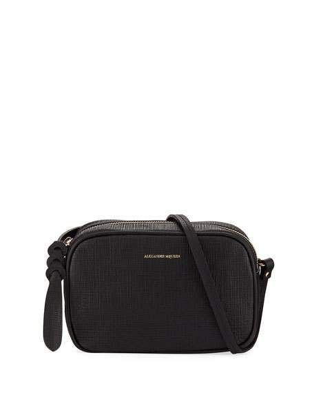 504be3b16037 Small Textured Leather Camera Bag Black | Fashion | Leather camera ...