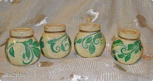 Декор предметов 8 марта Декупаж Баночки для специй и подставки Банки стеклянные Салфетки фото 6