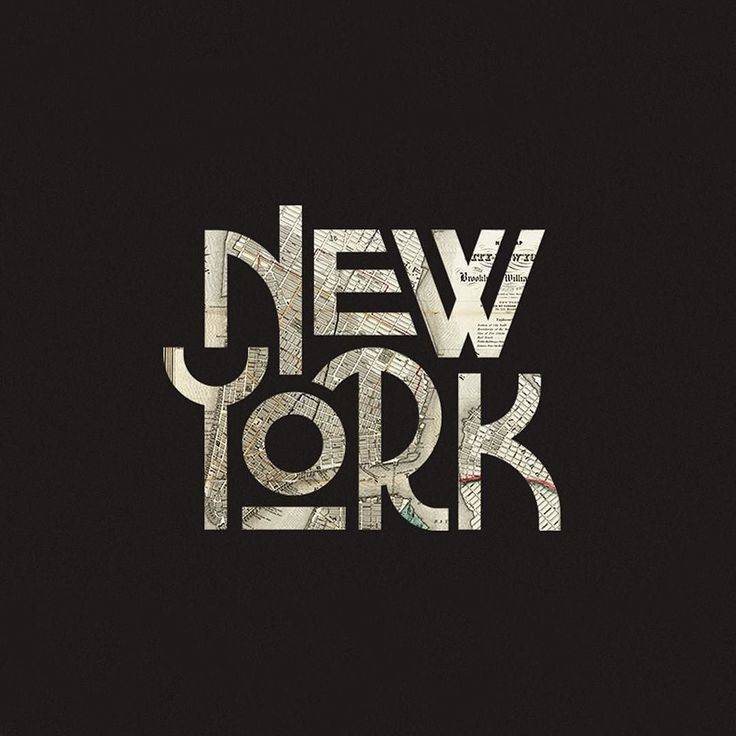 Some fun type that was part of a branding campaign. #typography #newyork…