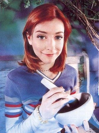 Willow Rosenberg, she's a Wicca and super cool. Except for when she's evil.