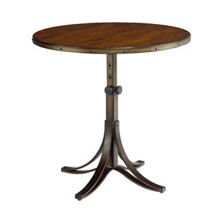 """Hammary Furniture - High Point, NC - MERCANTILE :: ROUND ADJUSTABLE ACCENT TABLE :: 25.5""""d 30""""h"""