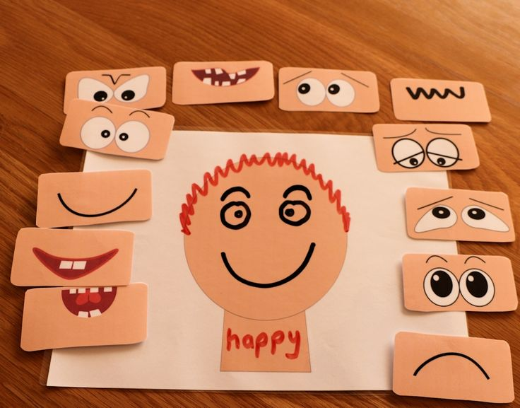 Use a whiteboard pen to draw different emotion faces