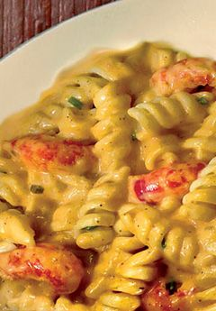 Louisiana Crawfish Co CRAWFISH PASTAIngredients:  1 pound fresh pasta (rotelle is preferred, but use your favorite shape) 1 stick butter (do not use margarine)  1/2 cup chopped onions 3 to 10 cloves garlic, chopped (to your taste) 1 pound crawfish tails, boiled and peeled 1 pint half-and-half 1 to 2 tablespoons Creole seasoning   Got some tails in the freezer, need to try this , sounds super easy.